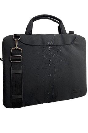 D'VERS Siyah Su Geçirmez Kumaş Su Geçirmez Fermuar Detaylı 15-15,6inch Uyumlu Unisex Laptop Evrak Çantası