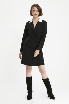 TRENDYOLMİLLA Siyah Ceket Elbise TWOAW20EL0334