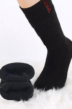 BlueStore 3 Çift Erkek Siyah Termal Havlu Kışlık Kalın Çorap