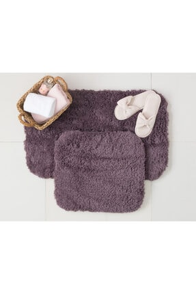 Madame Coco Sheep 2'li Banyo Paspas - Koyu Mürdüm