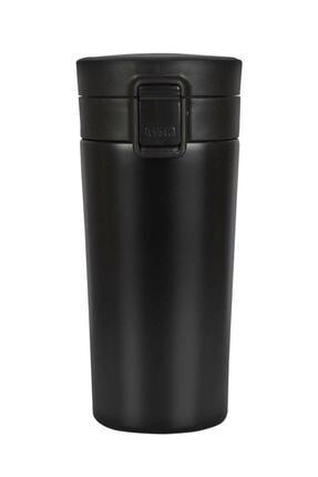 MİSSCAFE Snape Filtreli Çift Katmanlı Mug Termos Bardak 380ml Siyah