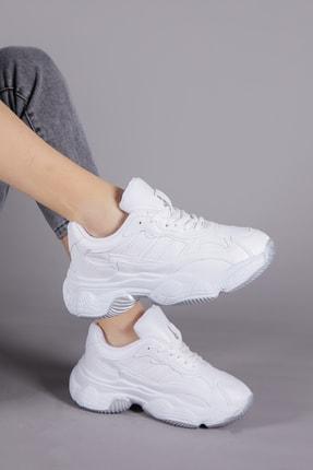 Tonny Black Kadın Beyaz Cilt Spor Ayakkabı Tb246