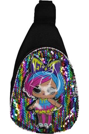 aysefe Kız Çocuk Işıklı Pullu Çapraz Çanta Body Bag