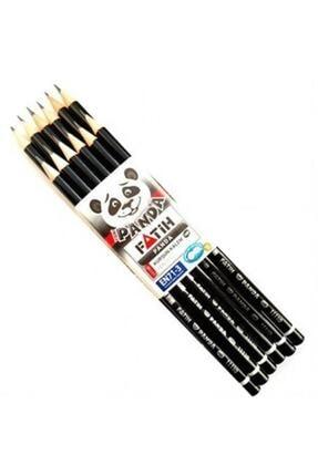 Fatih Panda Kurşun Kalem Yuvarlak Siyah (12 Lİ PAKET)