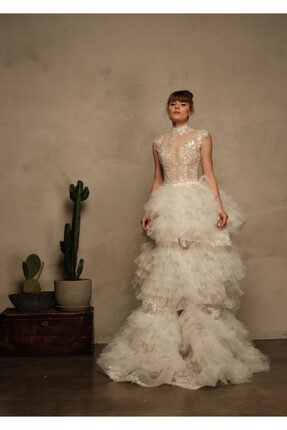 La Mojo Bridal Tul Etek Ve Party Ic Dantel Elbise