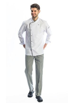 TIPTEKS Pötikare Desenli Klasik Aşçı Ceketi