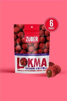 Züber Lokma Orman Meyveli Kakaolu Fındık Ezmeli Meyve Topu 96g X 6 Paket