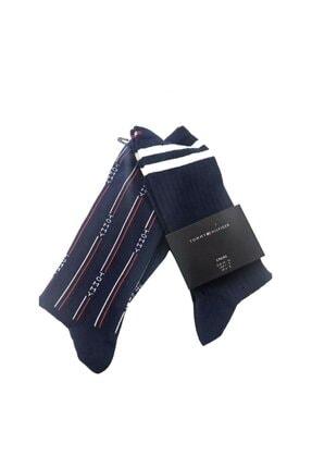 Tommy Hilfiger Th Denım The Ace Sock/ 2li Çorap Set 35-38 Numara S491001288
