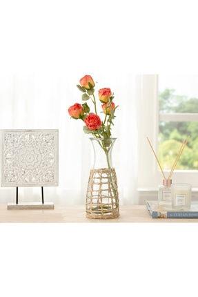 English Home Rose Bouquet Tek Dal Yapay Çiçek 61 Cm Kırmızı
