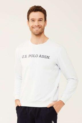 U.S. Polo Assn. Erkek Beyaz Yuvarlak Yaka Sweatshirt