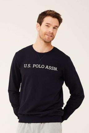 U.S. Polo Assn. Erkek Lacivert Yuvarlak Yaka Sweatshirt