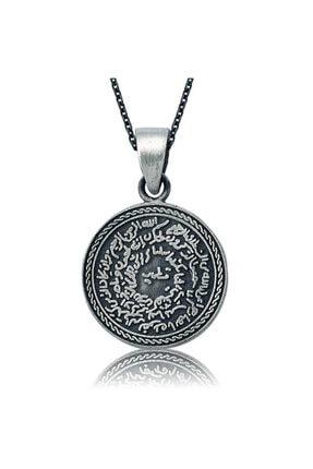 Gumush Kadın Gümüş Kıtmir ve Mühr-ü Şerif Kolye PT2610234