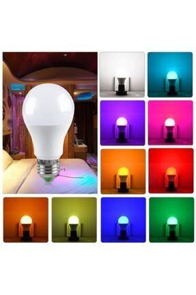 Nisa Rgb Kumandalı Led Renkli Ampul 9w (beyaz Işıklı Ve Çok Renkli ) Ayarlanabilir / Kısılabilir