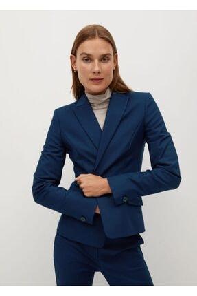 MANGO Woman Kadın Lacivert Kalıplı Takım Blazer Ceket