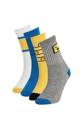 DeFacto Erkek Çocuk 3'lü Pamuklu Uzun Çorap