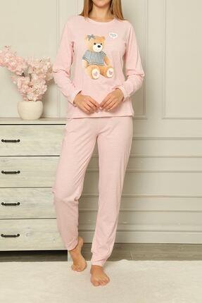 Nicoletta Pembe Kadın Pijama Takımı Pamuklu