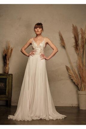 La Mojo Şifon İki Parçalı Nikah After Party Elbisesi