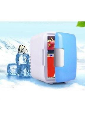 MR AUTO Mini Buzdolabı Kozmetik Dolabı Oto Soğutucu Mavi Renk