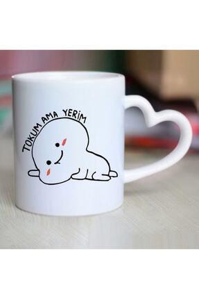 kedili dükkan Beyaz Tokum Ama Yerim Yazılı Kupa Bardak
