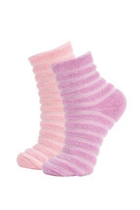 DeFacto Kadın Havlulu Uzun 2'li Çorap