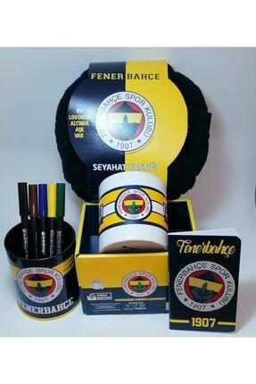 Fenerbahçe Sarı Lacivert Seramik Bloknot ve Kalemlik ve Kupa