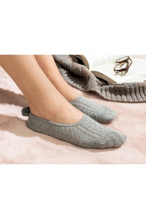 English Home Winter Mode Pamuk Kadın Babet Çorap 36-40 Gri