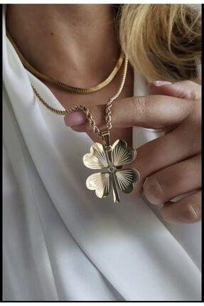 orbis accessories Burgu Zincir Yonca Kolye