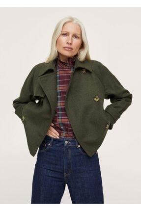 MANGO Woman Yün Yakalı Ceket