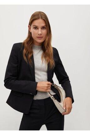 MANGO Woman Kadın Siyah Kalıplı Takım Blazer Ceket
