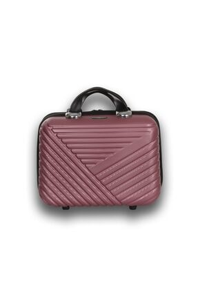 Troya Bags Premium Abs Makyaj Çantası & El Valizi Rose Gold