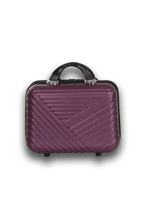 Troya Bags Premium Abs Makyaj Çantası & El Valizi Mürdüm