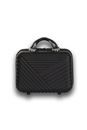 Troya Bags Premium Abs Makyaj Çantası & El Valizi Siyah