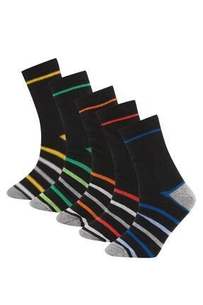 DeFacto Erkek Çocuk Desenli 5'li Soket Çorap
