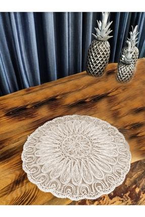 Çt Çeyizci Tekstil Krem Fransız Dantelli Supla 1 Adet