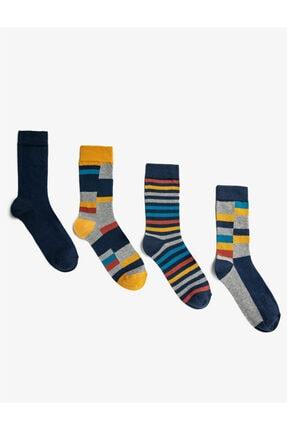 Koton Desenli Erkek Çorap