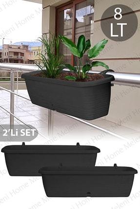 Meleni Home 2'li Askılı Balkon Saksısı 8 Lt 51 Cm