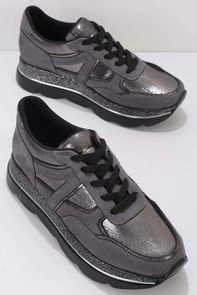 Bambi Füme Süet Kadın Sneaker K01763044065