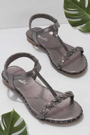Bambi Platin Kadın Sandalet K05913027736