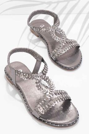 Bambi Platin Kadın Sandalet K05913025236