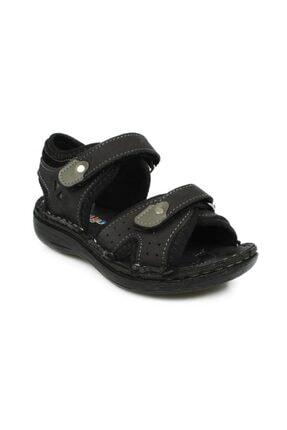Toddler P Çift Cırt Siyah Çocuk Sandalet