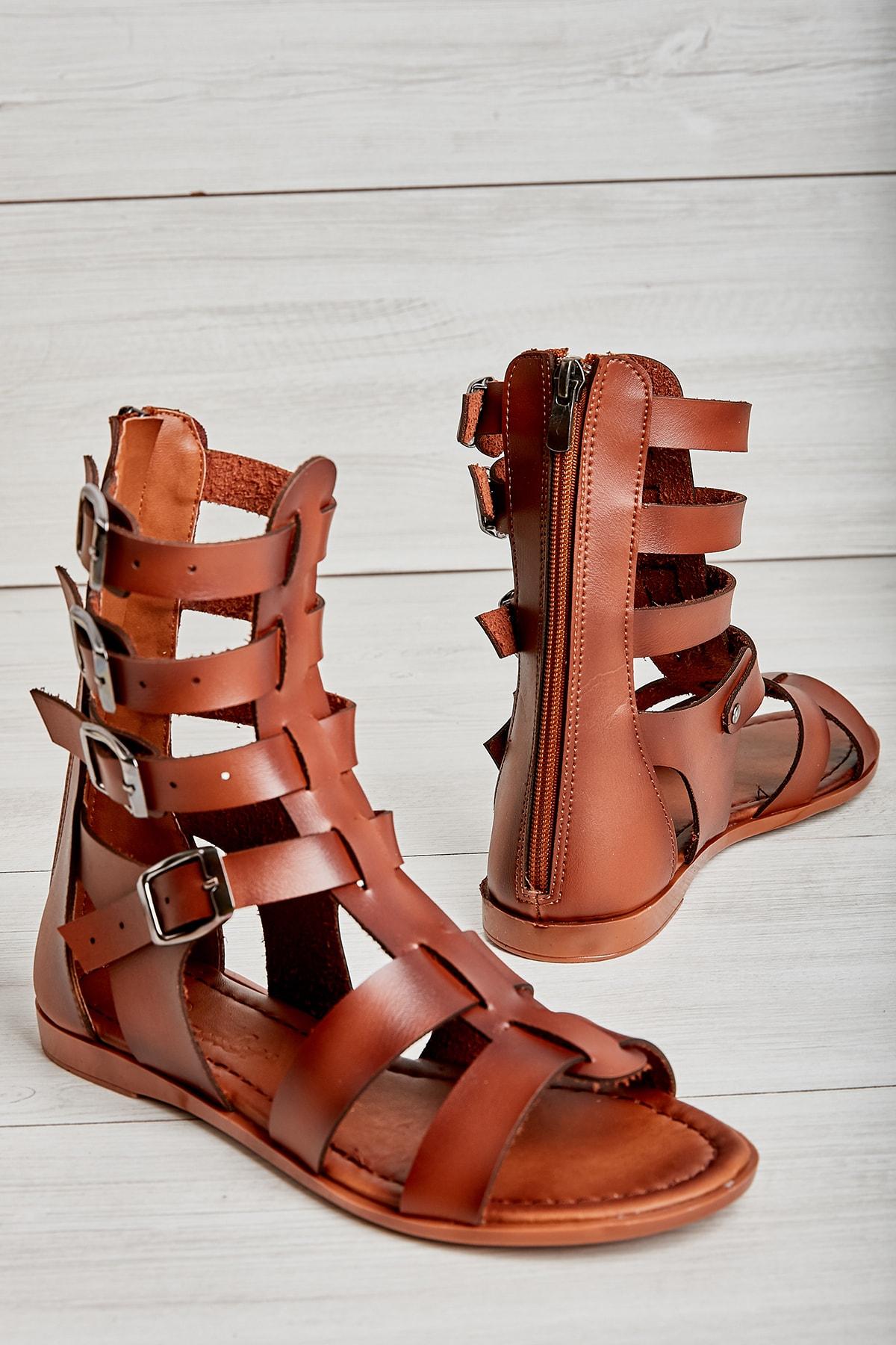 Bambi Kahve Kadın Sandalet L07760300 1