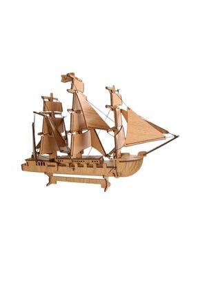 Pershang Ahşap Yelkenli Korsan Gemisi  3 Boyutlu Yapboz