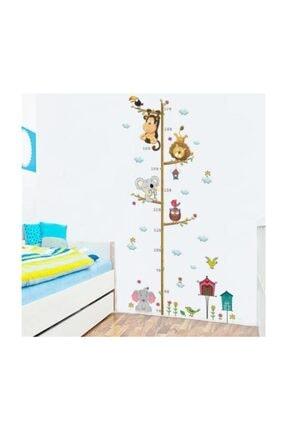 cosy home gift Boy Ölçer Çocuk Ve Bebek Odasi Duvar Dekor Süsleme Renkli Agaç Orman Hayvanları Sticker Pvc