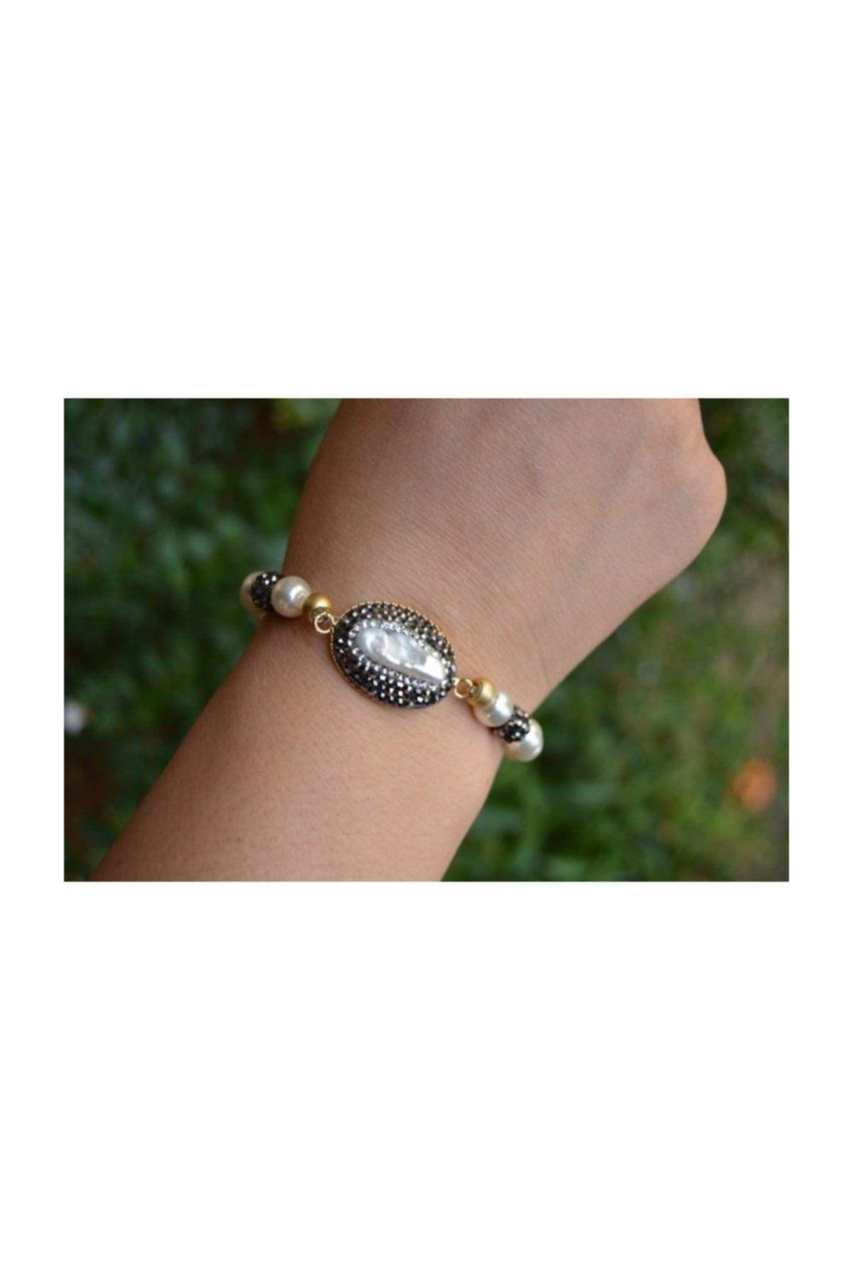 Stoneage Jewellery Incili El Yapımı Bileklik 1