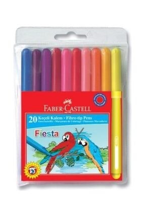 Faber Castell Faber Keçeli Kalem Fiesta 20 Li Poşet 330450
