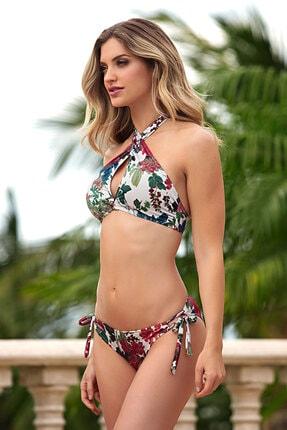 AYYILDIZ Kadın Naturel Çapraz Bağlamalı Bikini 28521