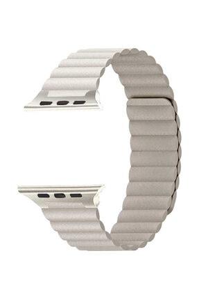 Aksesuarcım Apple Watch 2. Nesil 40mm Mıknatıslı Deri Loop Saat Kordonu