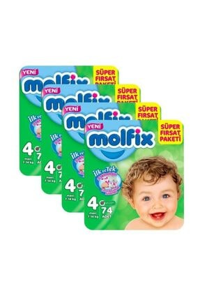 Molfix Süper Fırsat Paketi 4 Numara 76 Adet X4 Paket