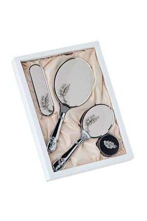 İmaj 5000 Çeyizlik Ayna Tarak Takım - Gümüş