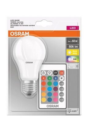 Osram Led Uzaktan Kumandalı Renk Değiştiren 9w 806 Lm E27 Ampul Rgb